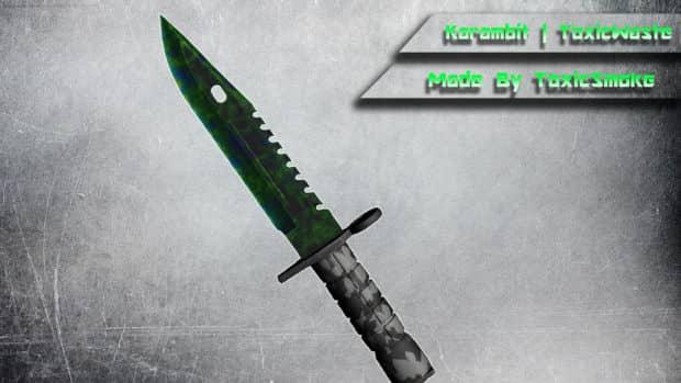 CS:GO скин M9 Bayonet - ToxicWaste