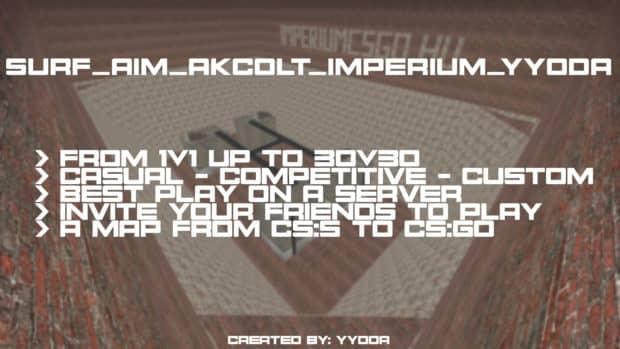 CS:GO карта surf_aim_akcolt_imperium_yyoda