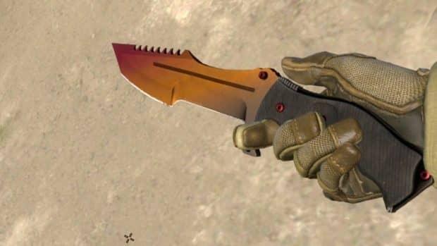 Охотничий нож из кс го