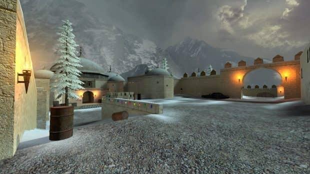 CS:S карта de_dust2_xmas